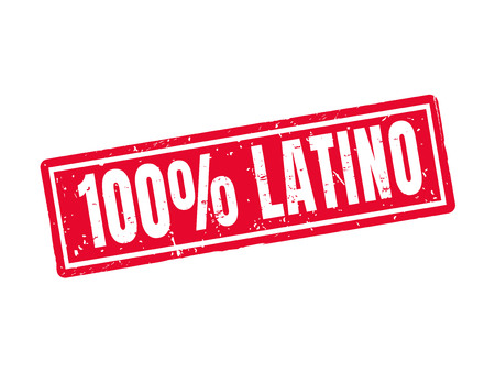 100 procent Latino in rode stempel stijl