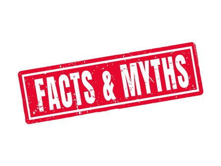 Feiten en mythen in rode stempelstijl