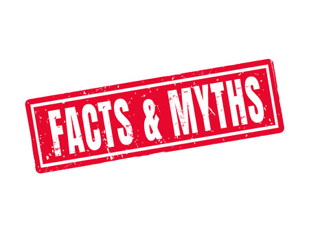 Facts and myths in red stamp style