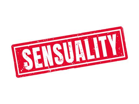 Sensuality in red stamp style Ilustração