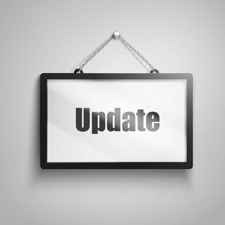 壁掛け 5532-7042、孤立した灰色の背景 3 d 図のテキストを更新します。 写真素材 - 78179016