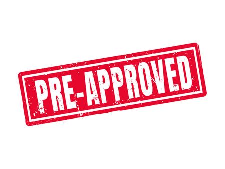 사전 승인 된 빨간색 스탬프 스타일, 흰색 배경 스톡 콘텐츠 - 78181256