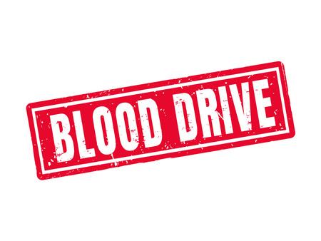 Bloedaandrijving in rode zegelstijl, witte achtergrond