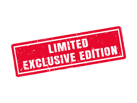 Limited: exclusive edition in red stamp style, white background Illustration