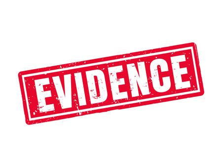赤いスタンプ スタイル、白の背景での証拠  イラスト・ベクター素材