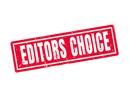 Editors choice in red stamp style.