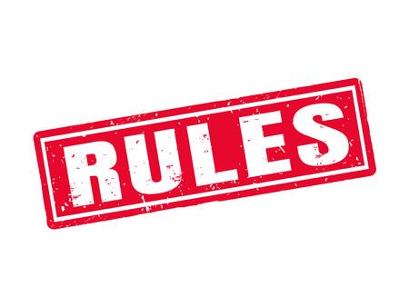 빨간색 스탬프 스타일, 흰색 배경의 규칙 일러스트