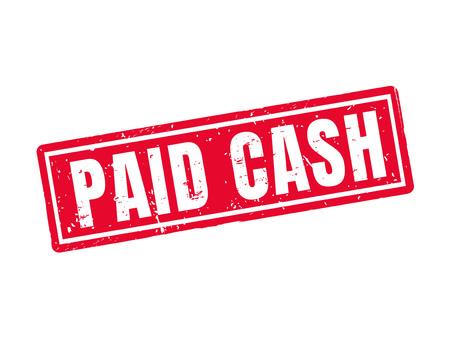 Bargeld in der roten Stempelart, weißer Hintergrund bezahlt Standard-Bild - 78185502