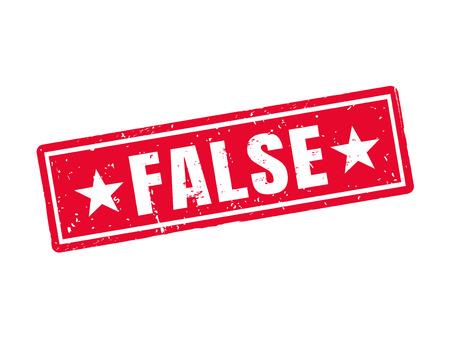 赤いスタンプ スタイル、白の背景に false 写真素材 - 78193214