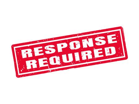 Réponse requise dans le style de tampon rouge, fond blanc