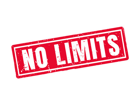 no limits in red stamp style, white background Illustration