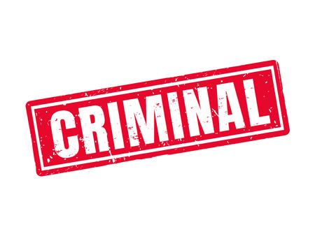 赤いスタンプ スタイル、白の背景で刑事