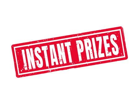 Instant prizes in red stamp style, white background Illusztráció