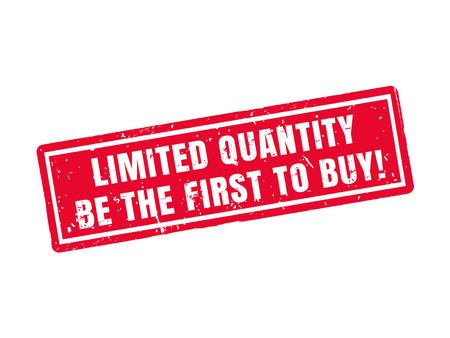 数量限定: 赤いスタンプ スタイル、白の背景で購入する最初にすること