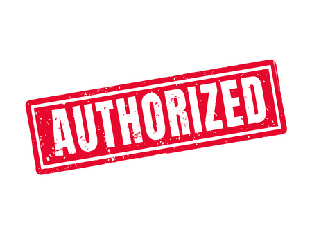 Authorized in red stamp style, white background