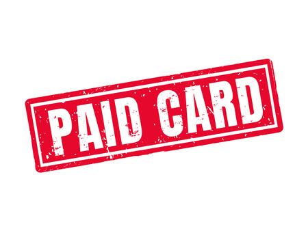 Bezahlte Karte im roten Stempelstil, weißer Hintergrund Standard-Bild - 78180045