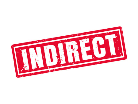 indirect in red stamp style, white background