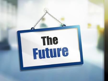 壁掛け 5532-7042 の未来のテキストの 3 D イラストレーション