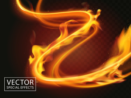fire expanding through light streaks, special effect 3d illustration