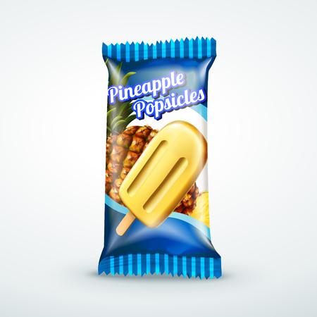 Crème glacée glacée muesli conception en 3d illustration pour les utilisations de conception Banque d'images - 82761962