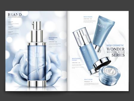 Cosmetisch tijdschriftontwerp.