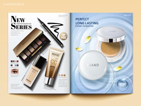 Kosmetisches Magazin Design.