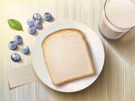 아침 식사의 상위 뷰 그림을 설정합니다.