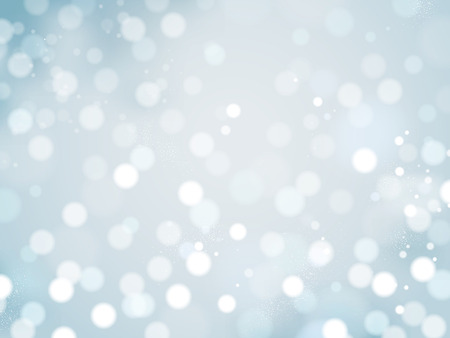 Romantic glittering background, abstract decorative bokeh wallpaper for design uses, blue tone Stok Fotoğraf - 89752748