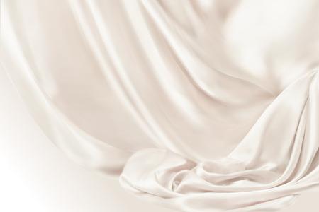 Fondo de cortinas lisas beige claro en ilustración 3d Ilustración de vector