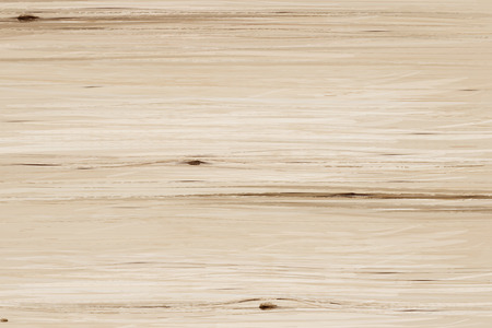 Wooden grain table background in 3d illustration, flat lay view Ilustração