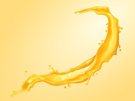 Salpicaduras de líquido de jugo en la ilustración 3d para usos de diseño