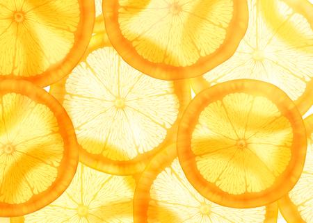 Fondo naranja en rodajas translúcido para usos de diseño