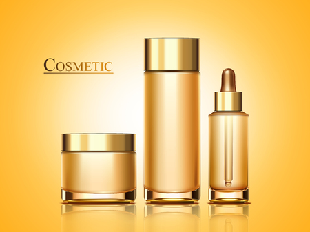 Cosmetic product mockup set in 3d illustration