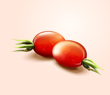 Close up look at fresh tomatoes in 3d illustration 写真素材 - 124134339