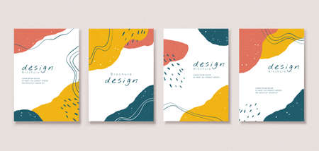 Minimal cover template design with abstract patterns and elegant line art, perfect for brochure, flyer, poster use