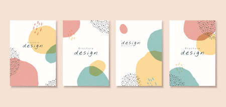 Minimal cover template design with abstract patterns in pastel tone, perfect for brochure, flyer, poster use