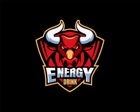 Energy drink  design on black background