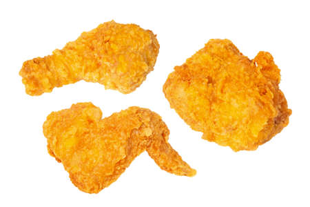 Delicious 3d illustration crispy fried chicken on white background