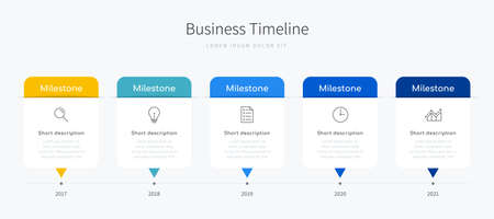 Business timeline infographic design for office presentation with icons