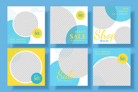 Fashion square banner ad template, promotional banner for social media post, web banner and flyer illustration Stock Illustratie