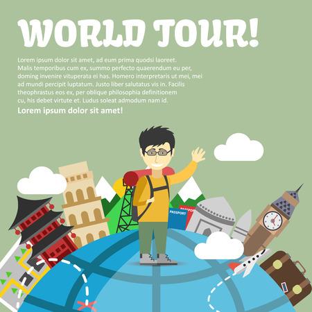 Tour du monde et de la planification des vacances d'été. Voyage, vacances et voyage, le concept Banque d'images - 50433376