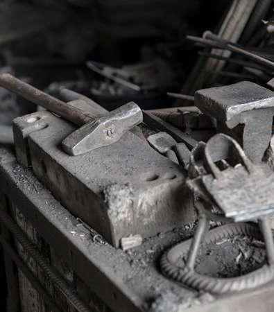 blacksmith shop: Traditional blacksmith shop Stock Photo