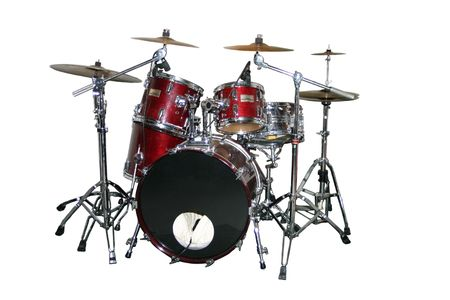An isolated drum set photo