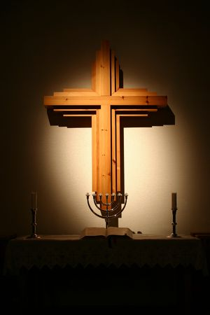 glorify: An altar with a cross