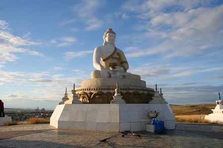 mongolia: View of a Buddha statue in Mongolia Stock Photo