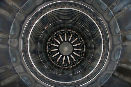 turbofan: Dentro de un motor de jet Foto de archivo