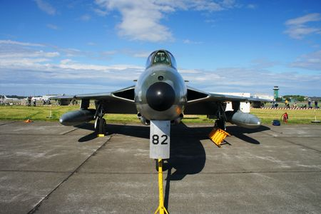 Nose view of Hawker Hunter photo