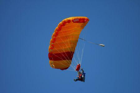 parachuting: Tandem parachuting Stock Photo