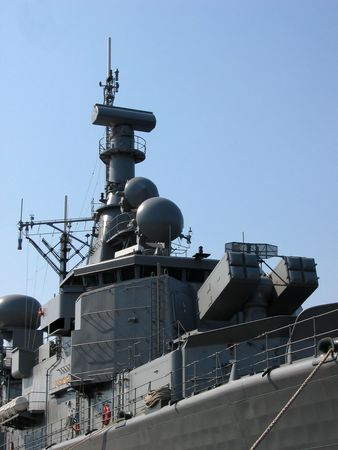 warship: Top deck of a battleship