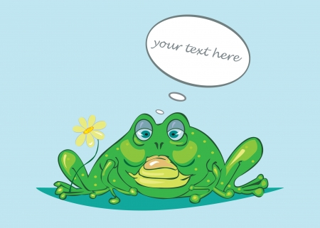 character traits: The cheerful frog and  the framework for the text